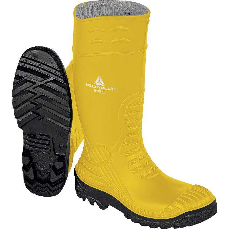 Гумени ботуши IRON S5 SRC жълто-черен
