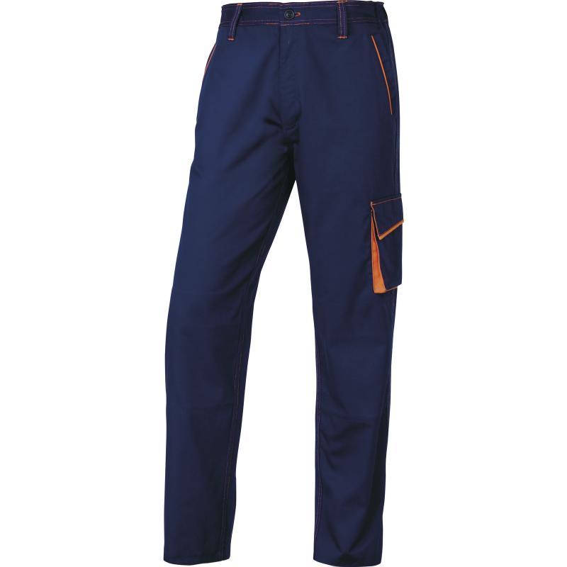 Работен панталон M6PAN, тъмносиньо-оранжево