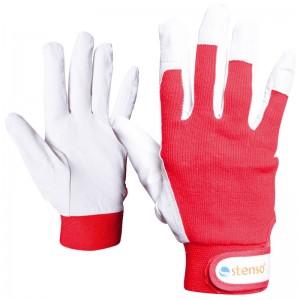 Ръкавици от кожа и плат GULL GILT RED