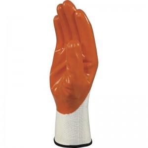 Плетени ръкавици DPVE715 , оранжево-бял