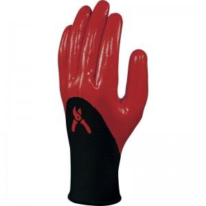 Плетени ръкавици DPVE715 , черно-червени