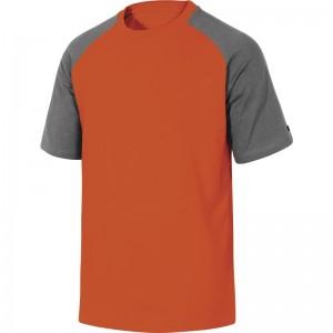 Памучна тениска GENOA , сиво-оранжево