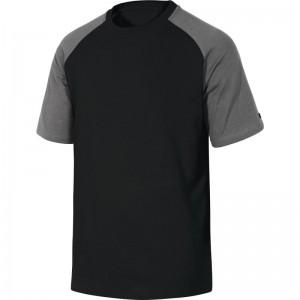Памучна тениска GENOA , черно-сиво