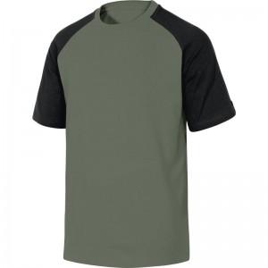 Памучна тениска GENOA , зелено-черно