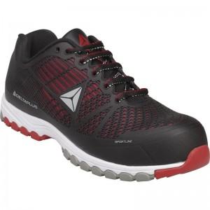 Работни обувки DELTA SPORT S1P HRO SRC, черно-червено
