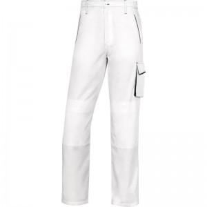 Работен панталон M6PAN, бяло-сиво